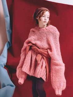 Superb oversized knit shot on kids by Delphine Chanet for Milk magazine - Buscar con Google