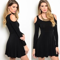 LAST ONE • new M black dress 60% cotton, 45% polyester, 5% spandex. Model is wearing the exact product Dresses Mini