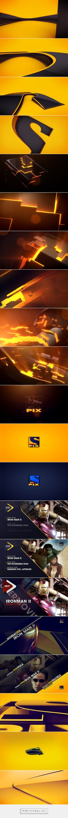 Sony Pix Channel Rebrand PITCH: While working at diestro.tv David from No Pretendas ( Creative Direction ) y Saul from AXT ( Art Direction ) in Madrid... - a grouped images picture - Pin Them All