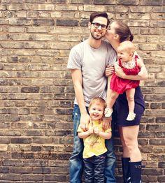 small family posing
