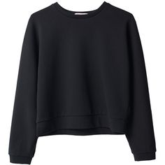 Organic by John Patrick Sweatshirt ($262) ❤ liked on Polyvore featuring tops, sweaters, shirts, jumpers, crew shirt, crew neck tops, boxy shirt, round top and boxy top