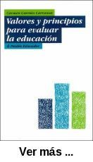 Valores y principios para evaluar la educación / Carmen      Carrión Carranza. -- Barcelona ; Buenos Aires ; México : Paidos,      2001 http://absysnetweb.bbtk.ull.es/cgi-bin/abnetopac01?TITN=532001