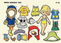 Victoria Recortable paper doll from Spain / flickr.com