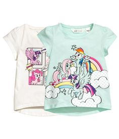 Mint/My Little Pony. Short-sleeved tops in cotton jersey with a printed design.