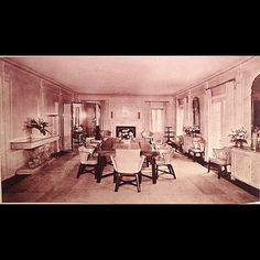 Syrie Maugham.  The dining room, as decorated by Maugham for the Harrison Williams (Mona Williams Bismarck).  Later, the Wrightsman's bought the house.