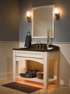 Beadboard Bathroom Wall Cabinet