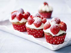 Cupcakes med jordbær