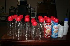 Empty Plastic Coffee Mate Creamer Bottles Lot of 26  Kitchen Storage Art Crafts  #CoffeeMate