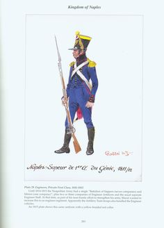 Kingdom of Naples: Plate Engineers, Private First Class, Kingdom Of Naples, Napoleonic Wars, First Class, Military History, Troops, Engineering, Army, Fictional Characters, Italian Army