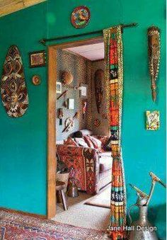 ☮ American Hippie Bohéme Boho Lifestyle ☮ --- this would look great to hide the laundry area by the kitchen!
