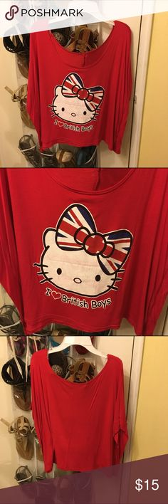 Hello Kitty shirt Absolutely love this shirt! Union Jack inspired (uk) I love British boys! Shirt Hellokitty Tops Blouses
