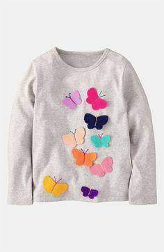 Mini Boden 'Fluttery Appliqué' Tee (Toddler, Little Girls & Big Girls) | Nordstrom