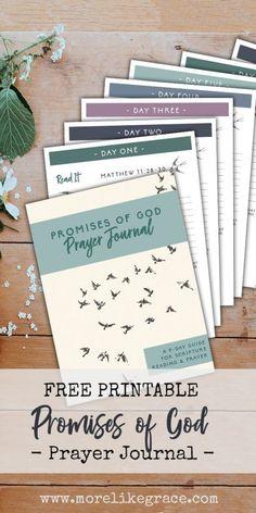 Promises of God - A Free Prayer Journal  | More Like Grace