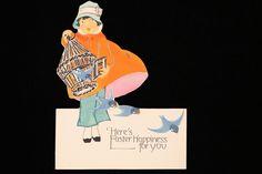 Vintage Easter Card, Antique Easter Card, 1920s Easter Card, 1920s Greeting Card, Vintage Easter Greeting Card, Vintage Easter Decor, Easter #etsy #vintage #iartg #etsyretwt #etsygifts #asmsg #findsfromyesteryear