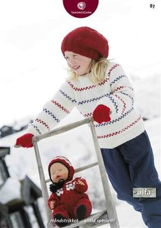 Pippi (in Norwegian and Swedish) Knitting Patterns Free, Free Knitting, Free Pattern, Knitting Dolls Clothes, Doll Clothes, Crochet Baby, Knit Crochet, Baby Barn, Hand Knitted Sweaters