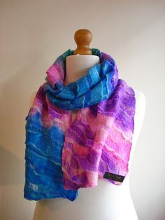 Check out this item in my Etsy shop https://www.etsy.com/uk/listing/233001916/felted-scarf-nuno-felted-scarf-nunofelt