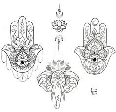 Hamsa Hand Tattoo, Hand Tattoos, Hamsa Tattoo Design, Cute Tattoos, Body Art Tattoos, Small Tattoos, Hamsa Design, Ankle Tattoos, Arrow Tattoos