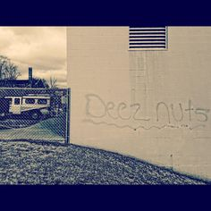 If you insist. #deeznuts #iphoneonly #stillwaterminnesota #concrete #graffiti