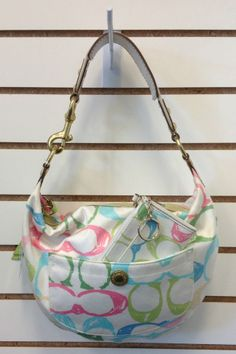 Authentic COACH Scribble Optic Hobo Handbag M05J-132 with Matching Mini Wallet / Coin Purse SOLD! Was available at Gadgets and Gold in Gainesville, FL!