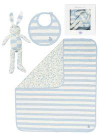 £52 Bonnie Bundle 'GIFT SET 3' cotton blanket/toy/bib