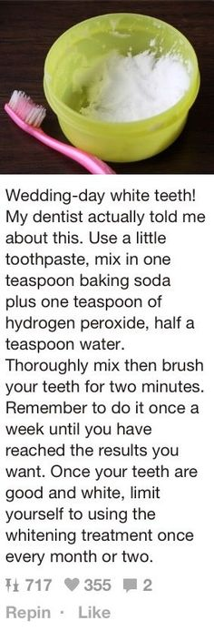 Hmm... I'll have to try this... #teethwhiteningdiywedding