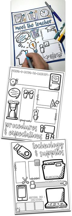 Back to School! - Meet the Teacher or First Day set (doodle note style!
