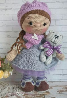 ~Волшебство в каждой петельке~ | VK Sewing Toys, Crochet Fairy, Cute Crochet, Knit Or Crochet, Beautiful Crochet, Crochet Crafts, Crochet Stitches, Crochet Doll Clothes, Knitted Dolls