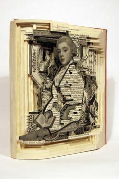 Bellissime le sculture di libri create dall'artista statunitense Brian Dettmer!