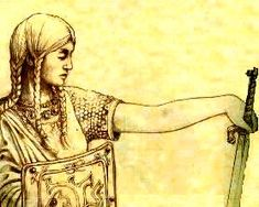 """Sarmatian/Scythian Women:The theory that parts of ancient eastern Europe were patrolled by posses of heavily armed women akin to the legendary Amazon warriors has been boosted by new evidence uncovered by Russian scientists. """"...buried with womanly things -- mirrors of silver and bronze; necklaces of gold, glass or clay; earrings; and sometimes a symbolic spindle,"""" Gulyayev said. """"But alongside these are weapons -- a quiver, bow and arrows, and often two throwing spears."""" more..."""