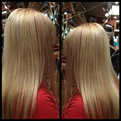 Light  Natural level 8, added finely sliced high-lift highlights to brighten overall and add warmth for a light golden blond, yet natural look
