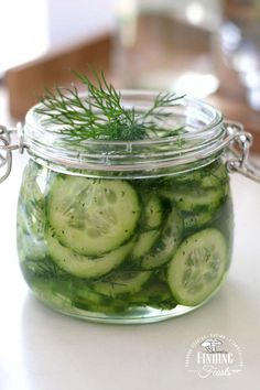 Kurkku Tilli Salaatti - Finnish Pickled Cucumber & Dill Salad. This is a gorgeous sweet and sour, cucumber and dill salad that is refreshing and crisp