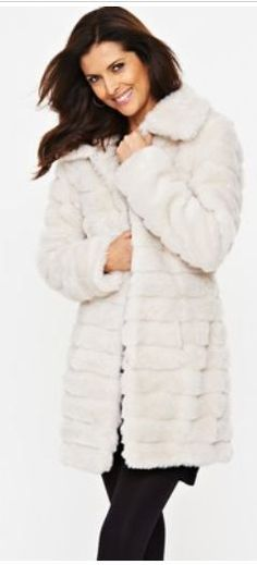 South Luxury Shaved Faux Fur Coat