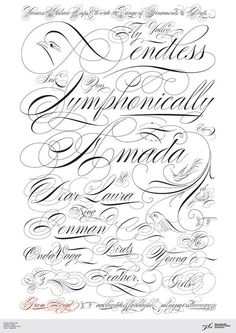 Typography by Argentina based designer Ale Paul. Ale Paul is one of the founders of the Sudtipos project, the first Argentinean type foundry collective. Calligraphy Fonts Alphabet, Tattoo Fonts Alphabet, Calligraphy Tattoo, Copperplate Calligraphy, Tattoo Script, Penmanship, Caligraphy, Tattoo Lettering Styles, Chicano Lettering