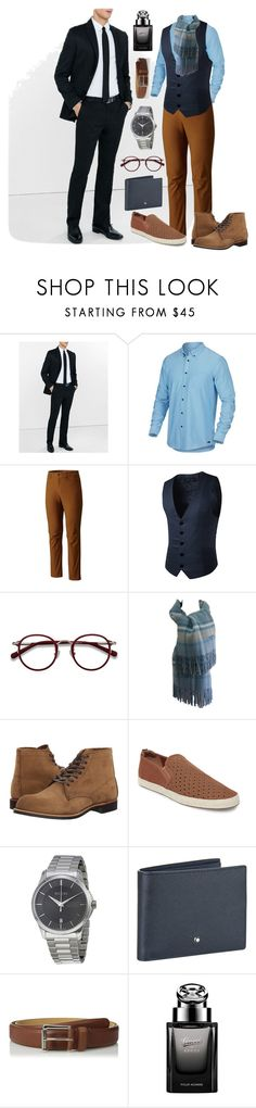 """""""It's a Man's Thing"""" by quirico ❤ liked on Polyvore featuring Express, Oakley, Mountain Hardwear, EyeBuyDirect.com, Balmain, Red Wing, Steve Madden, Gucci, Montblanc and men's fashion"""