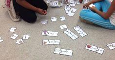 Voici une activité de puzzles (ou casse-tête) que j'utilise dans ma classe. Les élèves adorent jouer à ce jeu dans les centres de littératie...