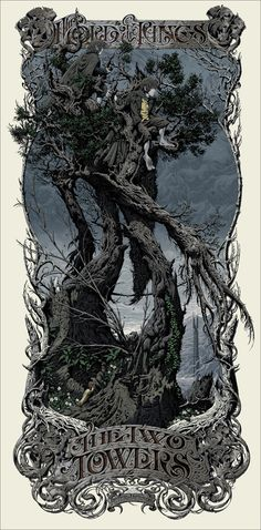 Aaron horkey's Two Towers poster no words