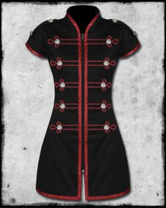 CRIMINAL DAMAGE DRUMMER DRESS - BLACK   RED on We Heart It 08c1748e7fc2