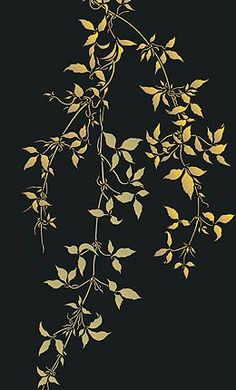 Leaf Stencils Trailing Clematis Leaves Theme Pack Stencil