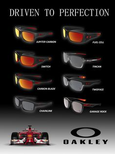 SCUDERIA FERRARI COLLECTION - The legendary cars of Scuderia Ferrari define speed, power and precision. Their Formula 1 single seater cars fuel excitement with cutting-edge innovation. Oakley, a company with a similar heritage of technical excellence and Scuderia Ferrari have partnered to offer special edition eyewear that salutes the passion for performance and perfection. Each frame in this premium sunglass collection carries highlights in the iconic color of Scuderia Ferrari red.