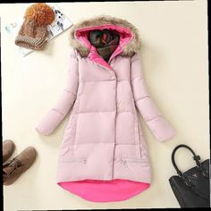 53.06$  Watch here - http://alib41.worldwells.pw/go.php?t=32758038324 - In The Winter Of 2016 And New High-end Custom Trend Line Long Hooded Coat Color Long Sleeved Cotton Female Space Cotton Dress