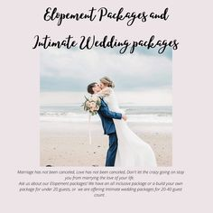 Elopement and Intimate wedding trends Seaside Wedding, Elope Wedding, All Inclusive Packages, Intimate Weddings, Wedding Trends, This Is Us, Marriage, Bride, Inspiration