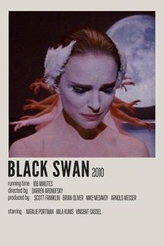 Minimal Movie Posters, Minimal Poster, Black Swan 2010, Darren Aronofsky, Alternative Movie Posters, Polaroids, Staying Alive, Poster Wall, Good Movies