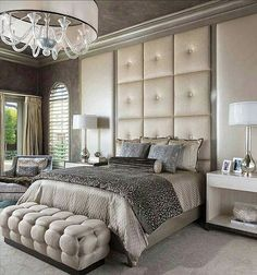 Beautiful bedroom with soothing colors & delicate patterns...#pinterest #elegant #house #interior #newhome #lighting #cozy #decor #interiordesign #decoracao #decoracion #photooftheday #ceiling #instalike #style #builder #likeforlike #follow4follow #chandelier #homedecor #interiorlovers #beautiful #picoftheday #homelovers #modern #bedroom #homedesign #realestate #wednesday