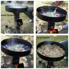 Estufa Rocket con olla cocina incorporada Stove Heater, Stove Oven, Diy Fire Pit, Fire Pit Backyard, Physics Tricks, Rocket Stove Design, Pallet Shed Plans, Outdoor Stove, Rocket Stoves