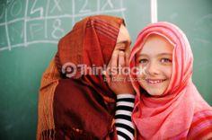 Stock Photo : Cute lovely school children at classroom having education activi