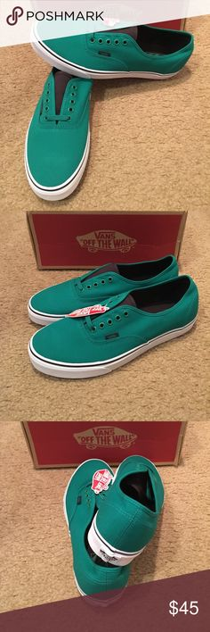 Authentic Canvas Vans New in box. Ultramarine Green Vans Shoes Sneakers  Green Vans Shoes a36c51831