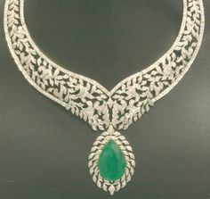 Emerald Diamond Necklace Designs Click here to shop beautiful diamond rings and jewelries: http://trkur1.com/203492/19175