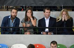 #Pippa & James #Middleton learn wheelchair rugby isn't for the faint-hearted... Sit with Peter and Autumn Philips and watch Mike Tindall, Zara and Prince Harry: via DailyMail