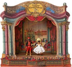 Music Box Theater, Toy Theatre, Victorian Toys, Tunnel Book, Little Theatre, Marionette, Puppet Show, Vintage Dolls, Barbie Vintage