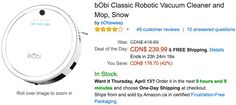Amazon Canada Deals Of The Day: Save 42% on bObi Robotic Vacuum Cleaner & Mop 24% on Silhouette Cameo 3 Starter... http://www.lavahotdeals.com/ca/cheap/amazon-canada-deals-day-save-42-bobi-robotic/189353?utm_source=pinterest&utm_medium=rss&utm_campaign=at_lavahotdeals